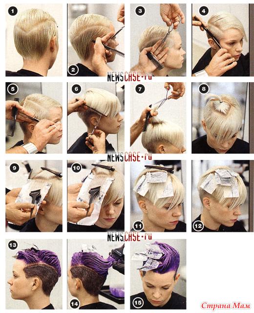 Стрижка на короткие волосы мастер класс