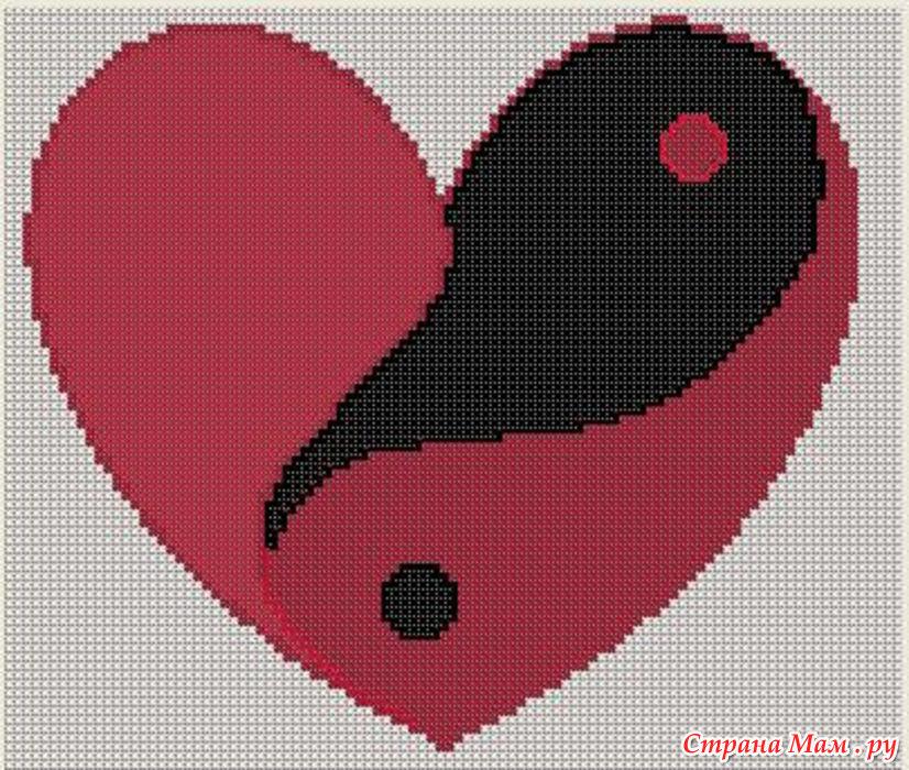 Сердце для вышивки крестиком 694