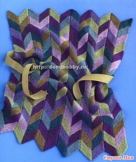 Цветной узор для вязания спицами