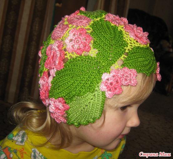 Вязание красивая шапочка