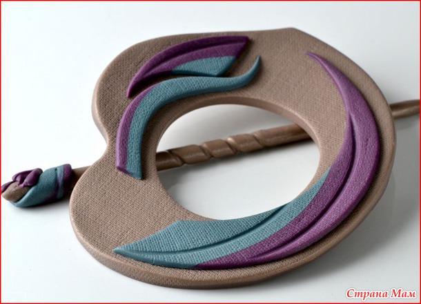 Полимерная глина. Заколки, броши для платков, шалей и трикотажа, а также многое другое.