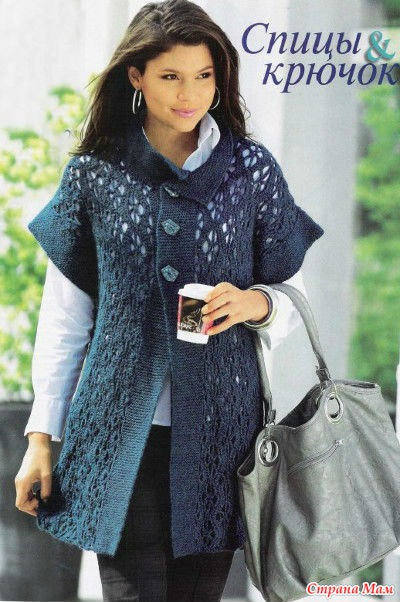 Вязание спицами пальто для женщин схема с описанием