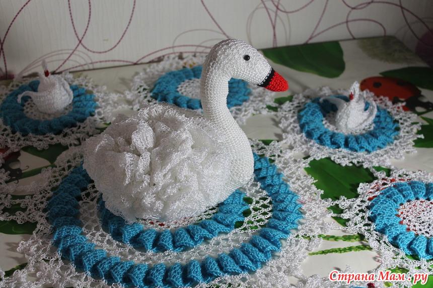 """*Салфетка """"Лебеди"""""""