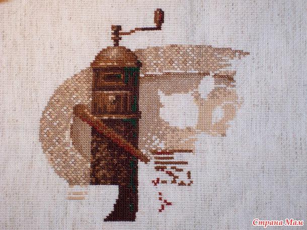 Схема вышивки риолис кофе