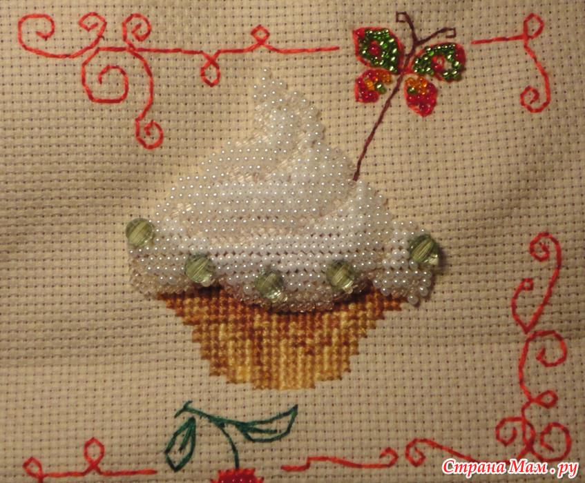 Вышивка пирожные риолис 36