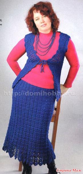 Описание вязания юбки