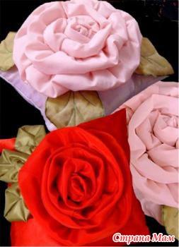 Как сделать розу из ткани своими руками схема 34