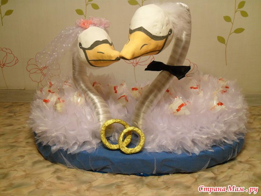 Лебеди из конфет - Букет из конфет ручной работы - Страна Мам
