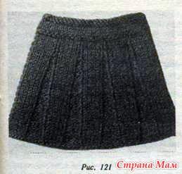 Связать юбка с бантовыми складками