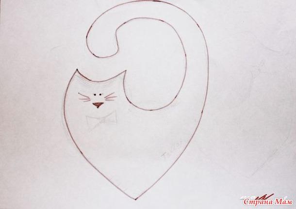 Как сшить котика сердечко