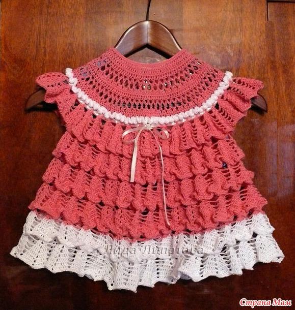 Платье колокольчики крючком