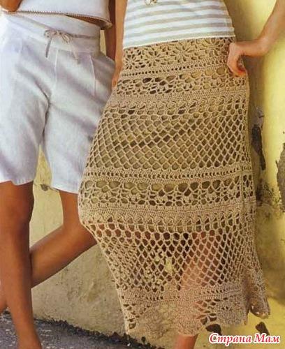 Схема юбки крючком дольче габбана