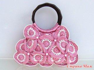 Симпатичные вязаные сумочки