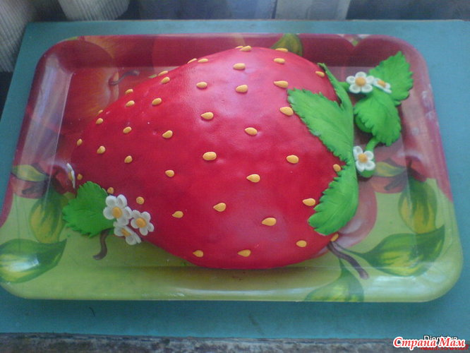 Торт в форме клубники фото рецепт и видеоролик