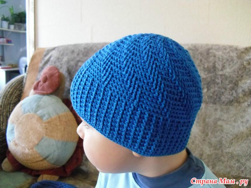Вязание шапок для мальчика видео 154