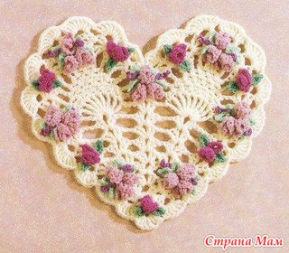 Вязаные крючком сердечки-валентинки!!!