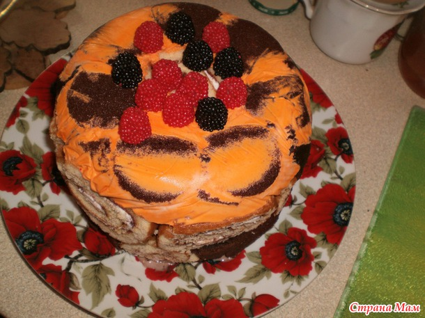 Вкусный торт на детский день рождения