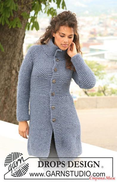 Пальто из drops design 121-26