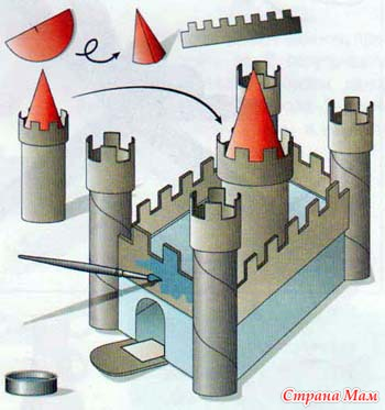 Поделки замки своими руками из бумаги