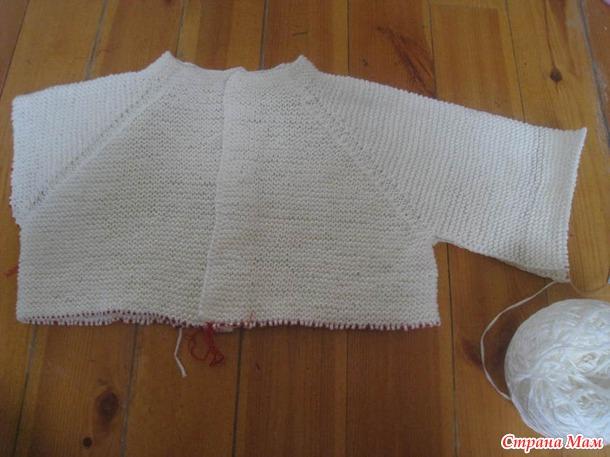 Лаконичный жакет платочной вязкой на осинке - caa
