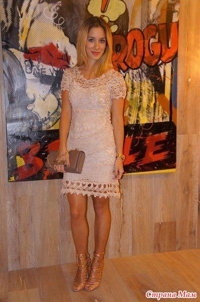 Платье моего гуру Ванессы Монторо (вязали на Осинке).