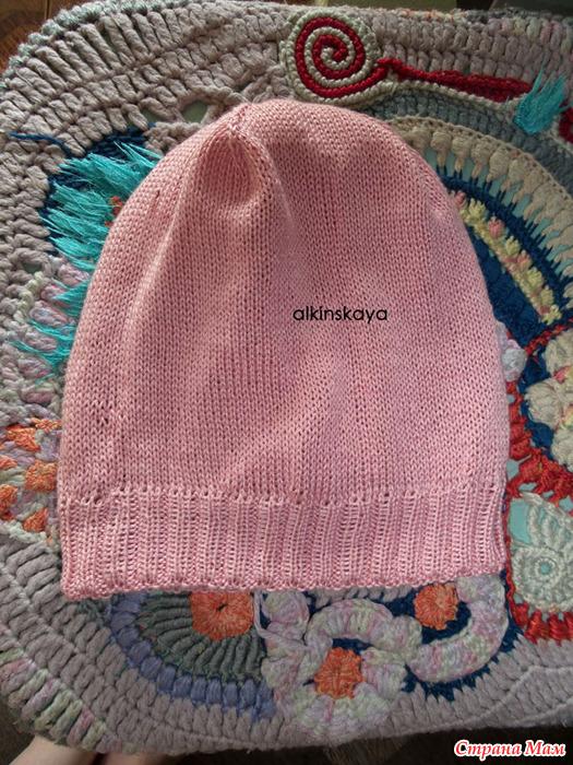 """Моя шапочка для дочки узором """""""