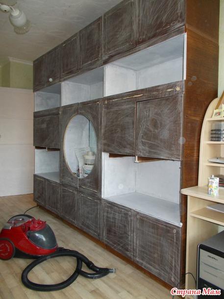 Переделаем старую мебельную стенку