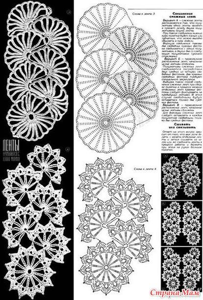 Ленточное кружево (схемы)