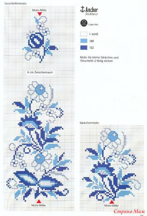 Схемы для вышивки крестом на юбке 230