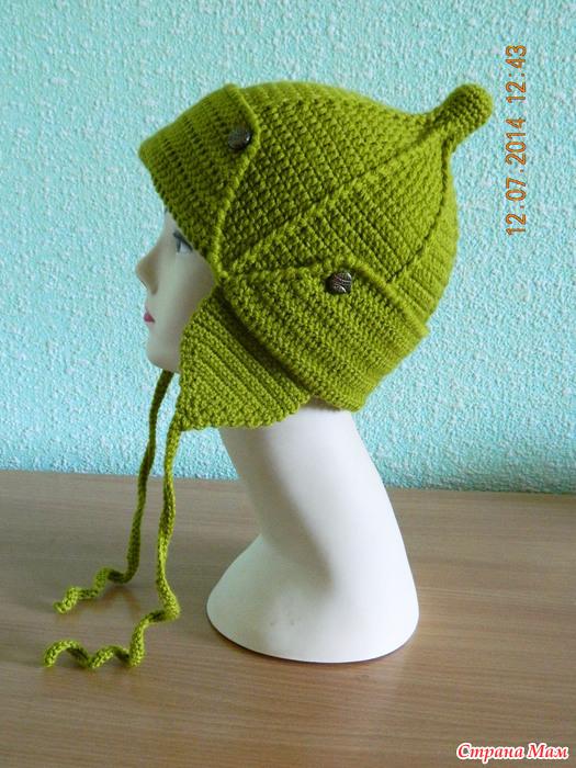 Вязание шапки будёновки 100