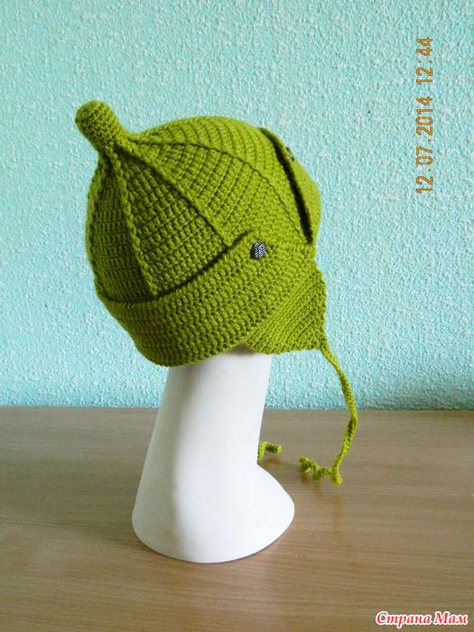 Вязание шапки будёновки 2