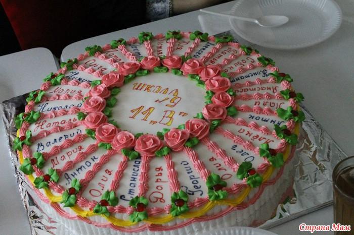 фото тортов для выпускного