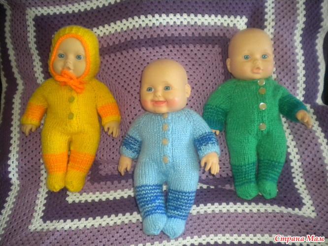 Связать штанишки для куклы спицами видео