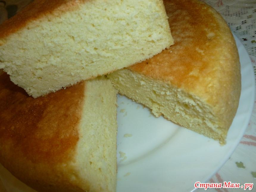 Лимонный бисквит в мультиварке рецепты с фото