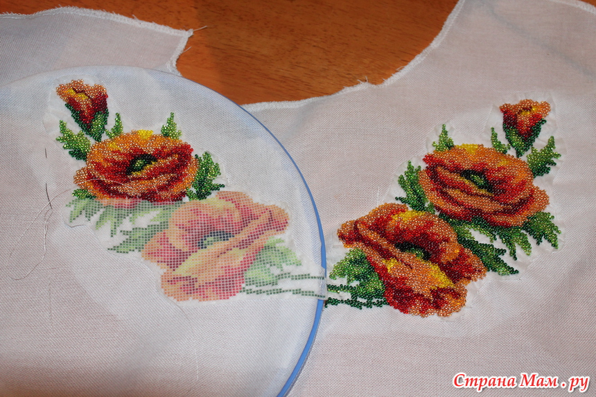 Вышивание на флизелине