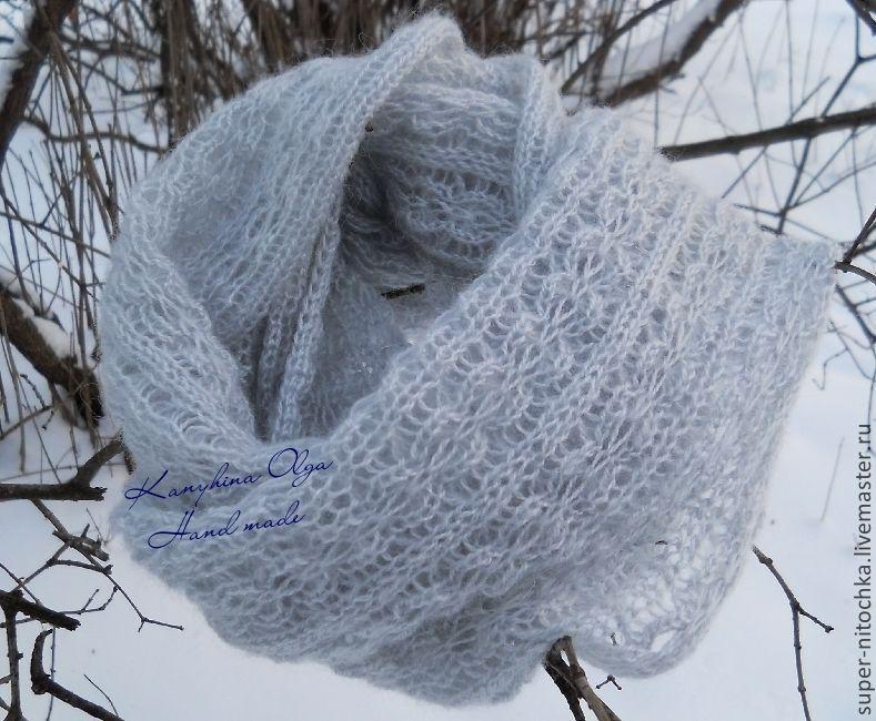 Вязание снуд из мохера спицами