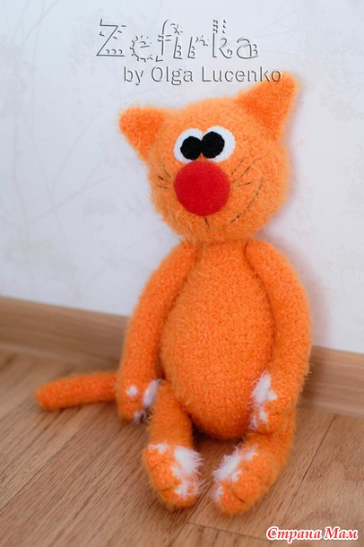 Вязание рыжего кота