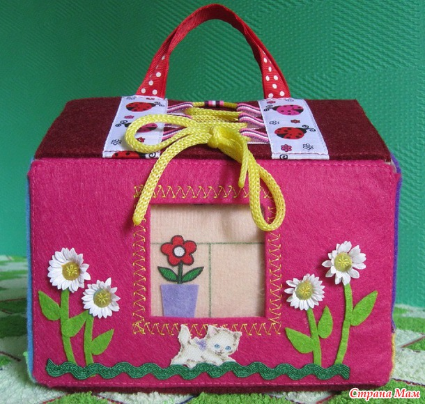 Сумочка домик для девочек своими руками 8