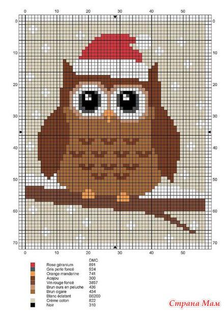 Вышивки крестом схемы маленькие совы