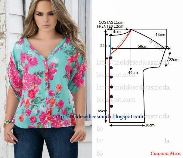 Блузы для полных женщин своими руками выкройки