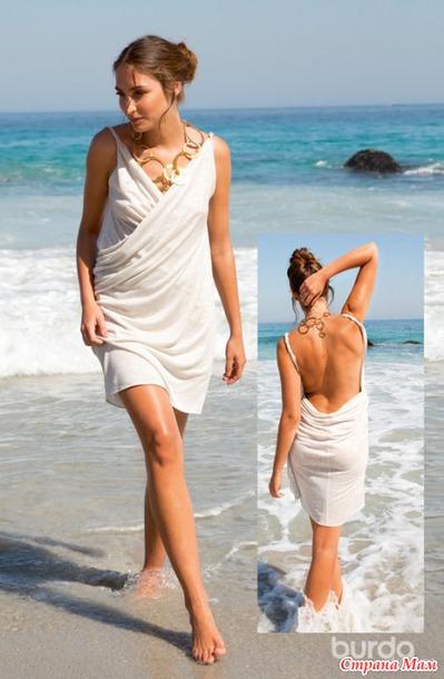 Платье-трансформер для летнего отдыха.