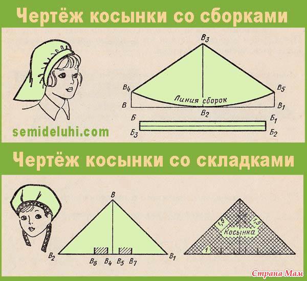 Как сделать косынку на голову своими руками