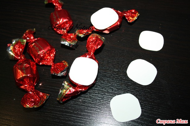 МК цветочка из конфет
