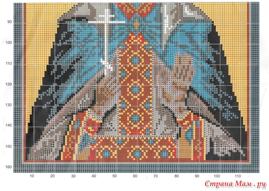 Схема вышивки св елена 16