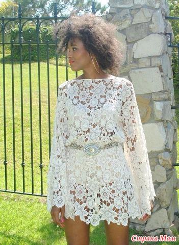 Платье связать элементами