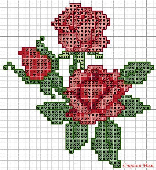 Вышивка крестиком. Цветы