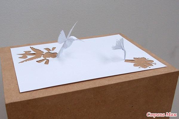 Как сделать из бумаги белой поделку