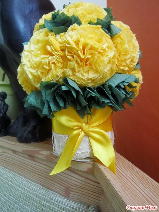 Поделка из цветов из салфеток