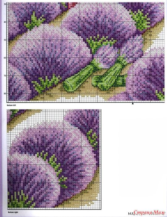 лавандовое поле схема вышивка