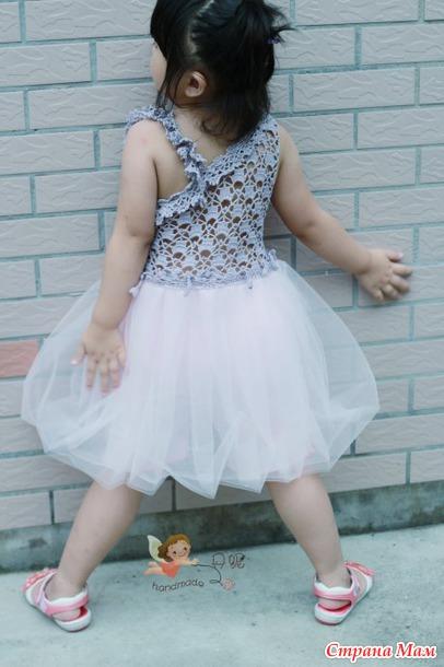 Комбинированное платье крючок + ткань